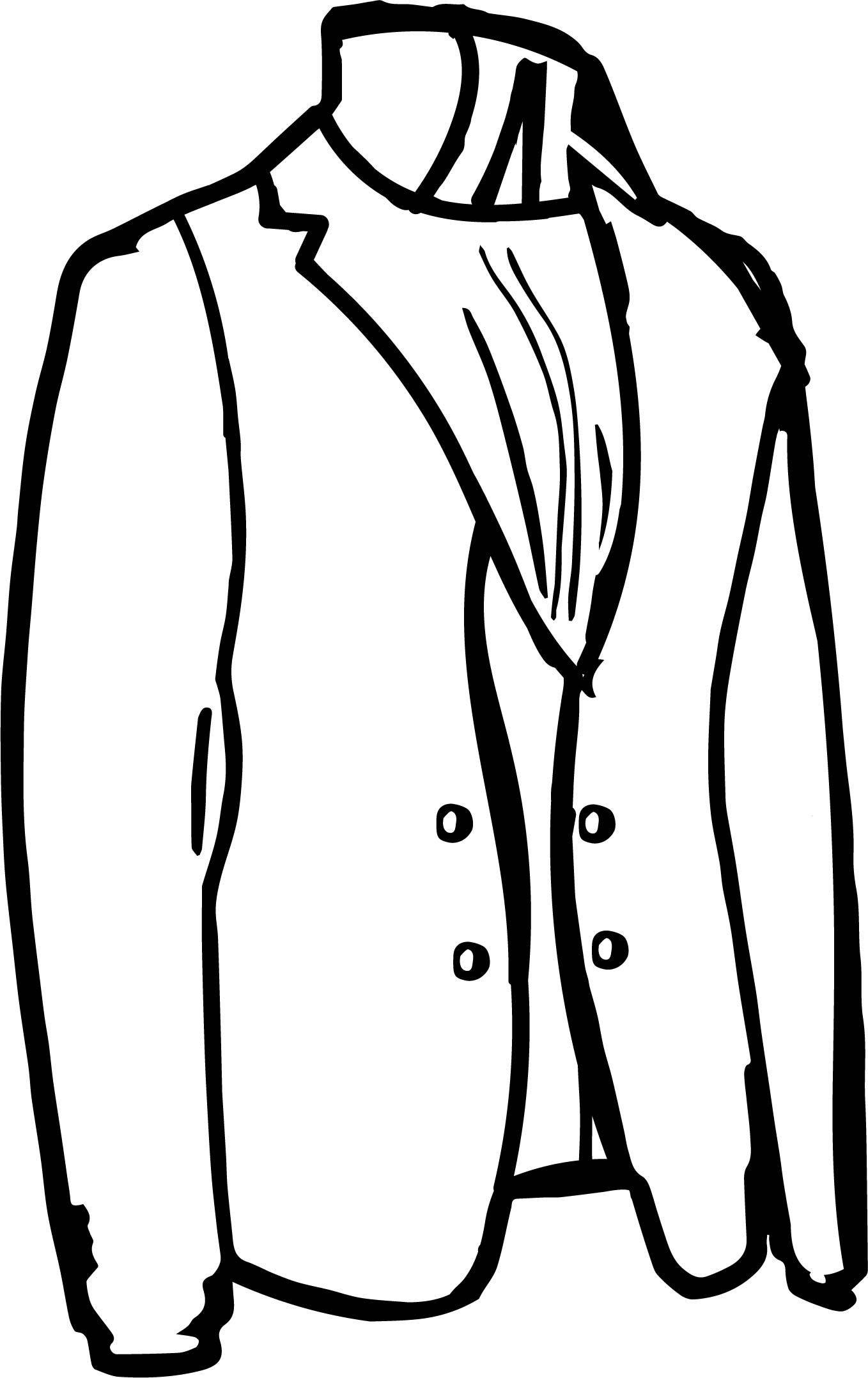 Tailor Jacket Coloring Page Wecoloringpage