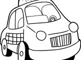 Taxi Driver Car Cartoon Coloring Page