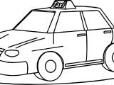 Taxi Driver Fine Car Coloring Page
