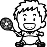 Tennis Baby Boy Coloring Page