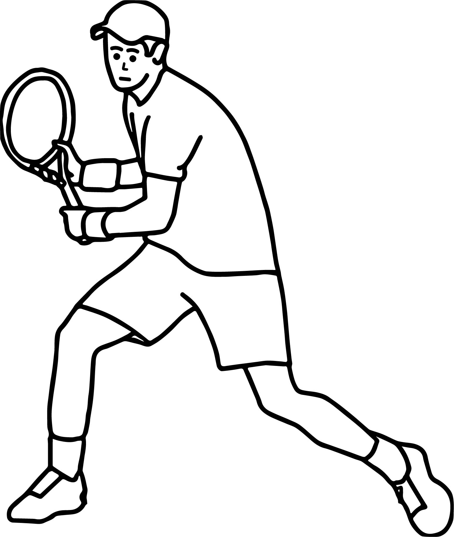 Tennis Player Backhand Stroke Coloring Page
