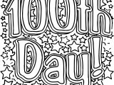 Text 100 Days Of School Coloring Page