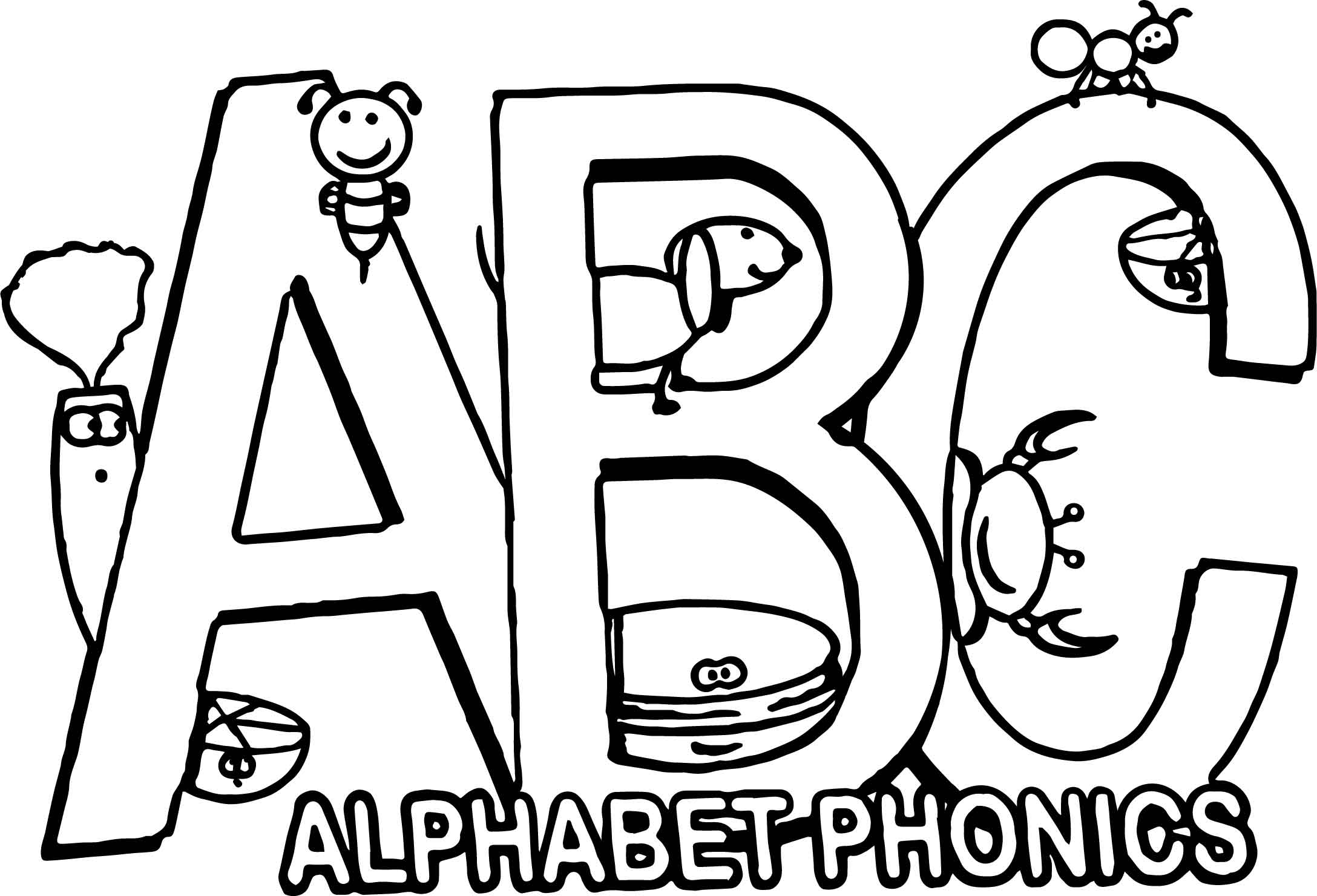 Alphabet Sounds Coloring Pages : Phonics letter a coloring pages best free