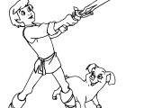 The Black Cauldron Taran Prince Boy Children And Henwen Pig Sword Coloring Page
