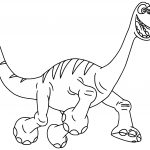 The Good Dinosaur Disney Arlo Cartoon Coloring Pages