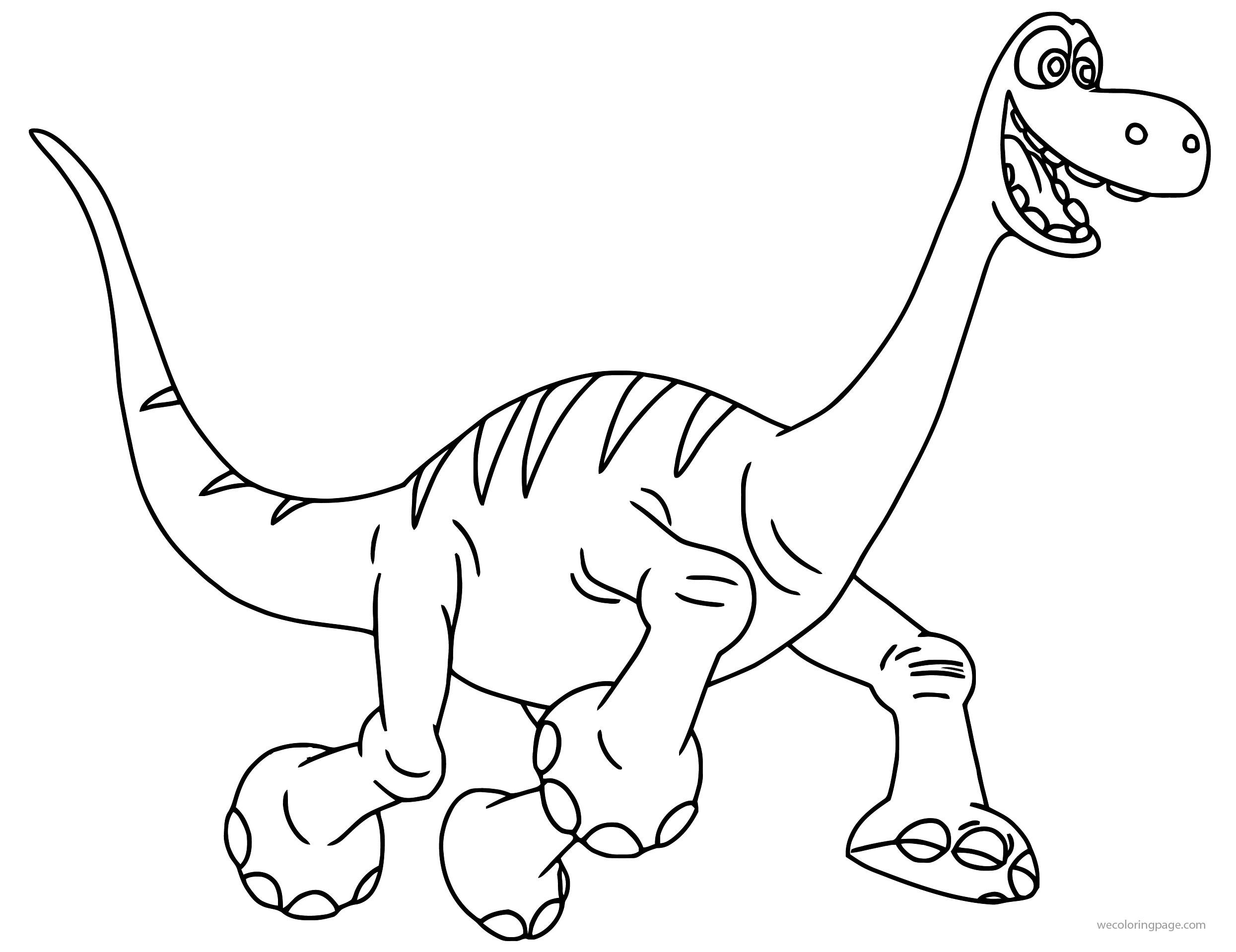 The Good Dinosaur Disney Arlo Cartoon Coloring Pages