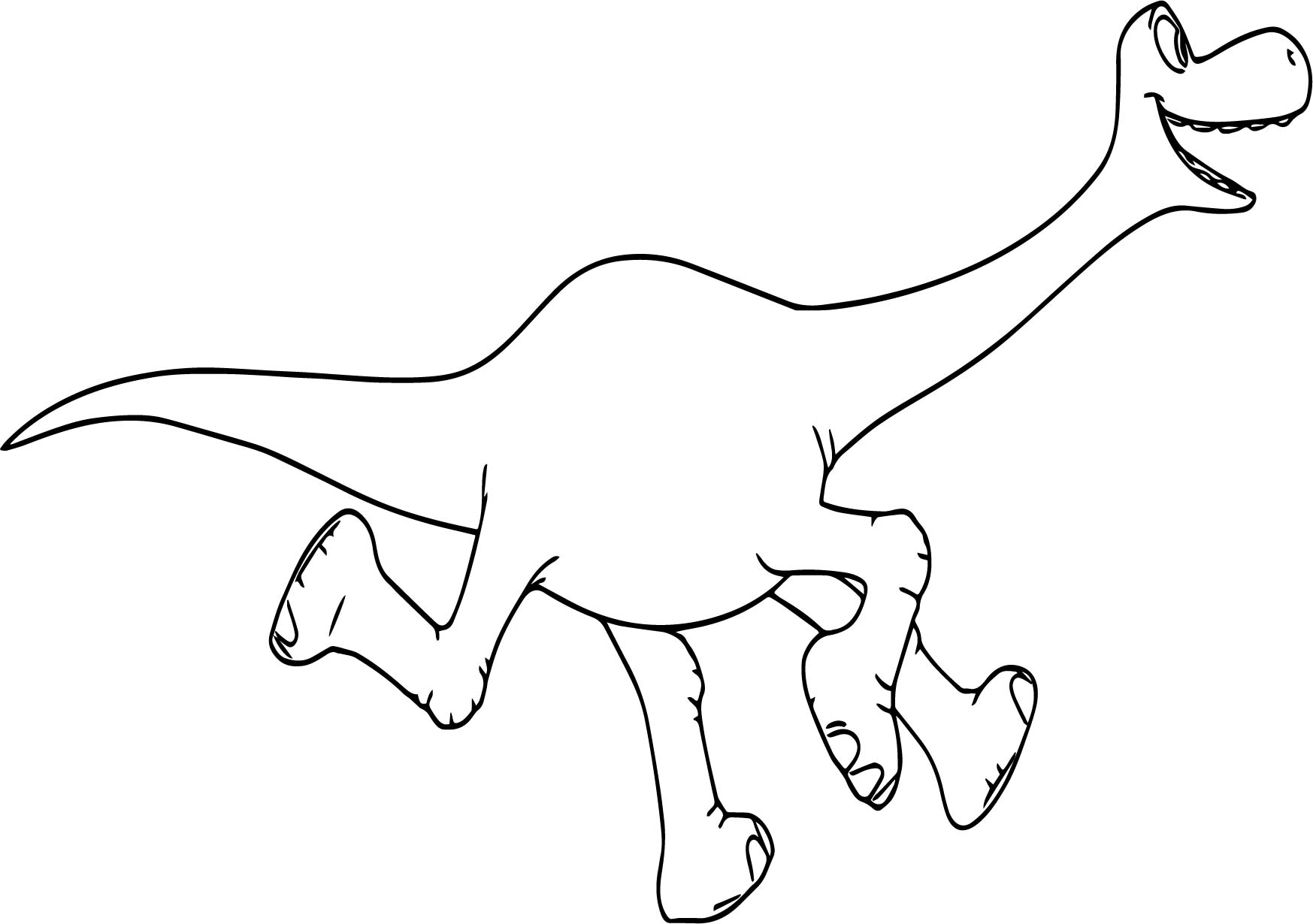 The Good Dinosaur Disney Arlo Run Cartoon Coloring Pages