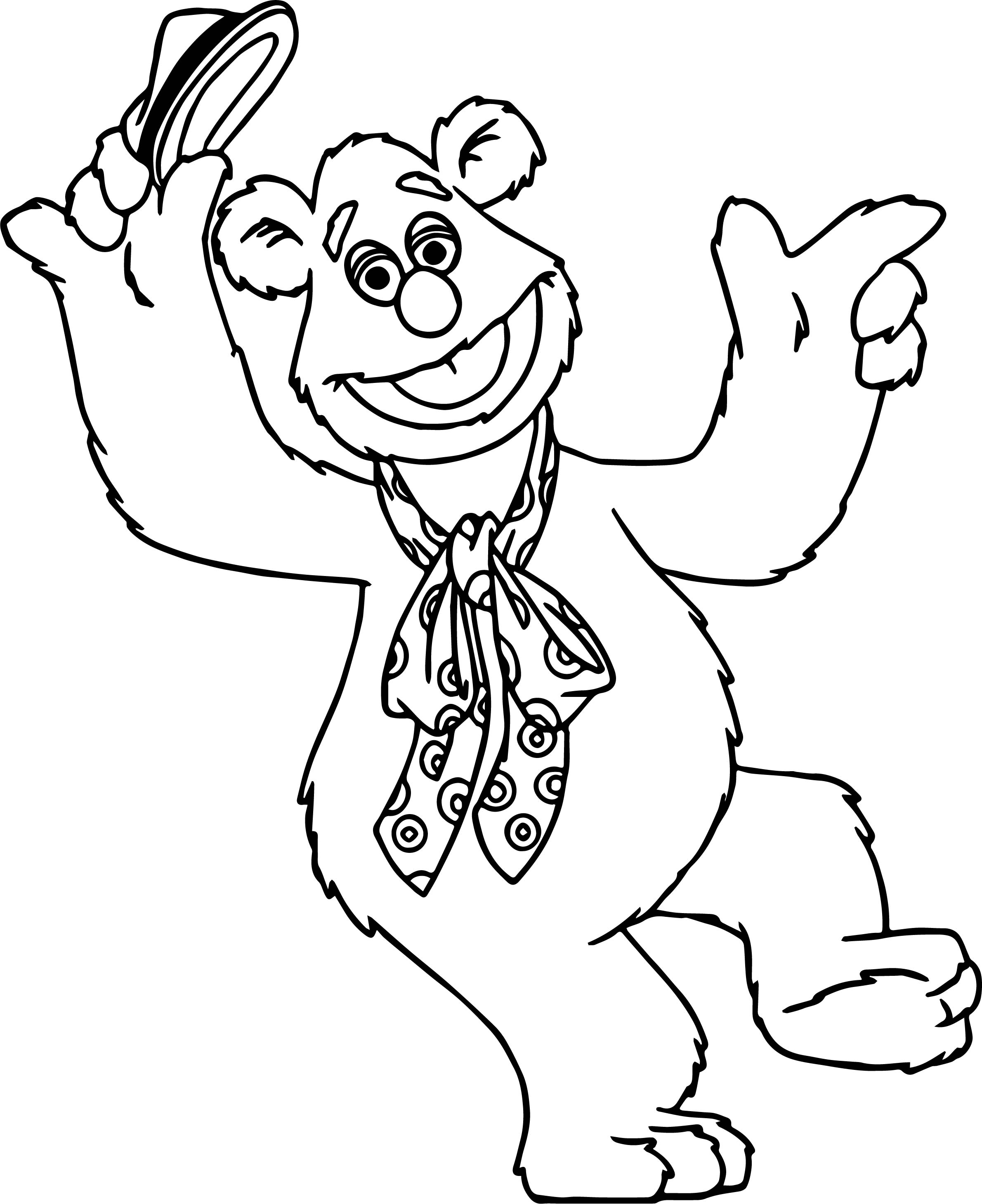The Muppets Fozzie Bear Coloring Pages