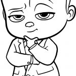 Think The Boss Baby Coloring Page