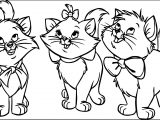 Three Disney The Aristocats Coloring Page