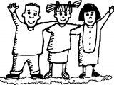 Three Friend Friendship Coloring Page