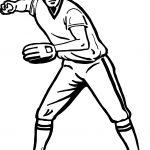 Throw Baseball Coloring Page