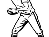 Throw Baseball Coloring Page