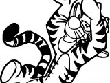 Tigger Playing American Football Coloring Page