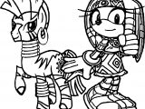 Tikal Zecora Amy Rose Wallpaper Coloring Page