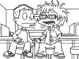 Tommy And Chuckie In Agu Season Coloring Page