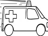 Too Fast Ambulance Coloring Page