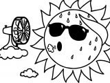 Too Hot Summer Sun Coloring Page