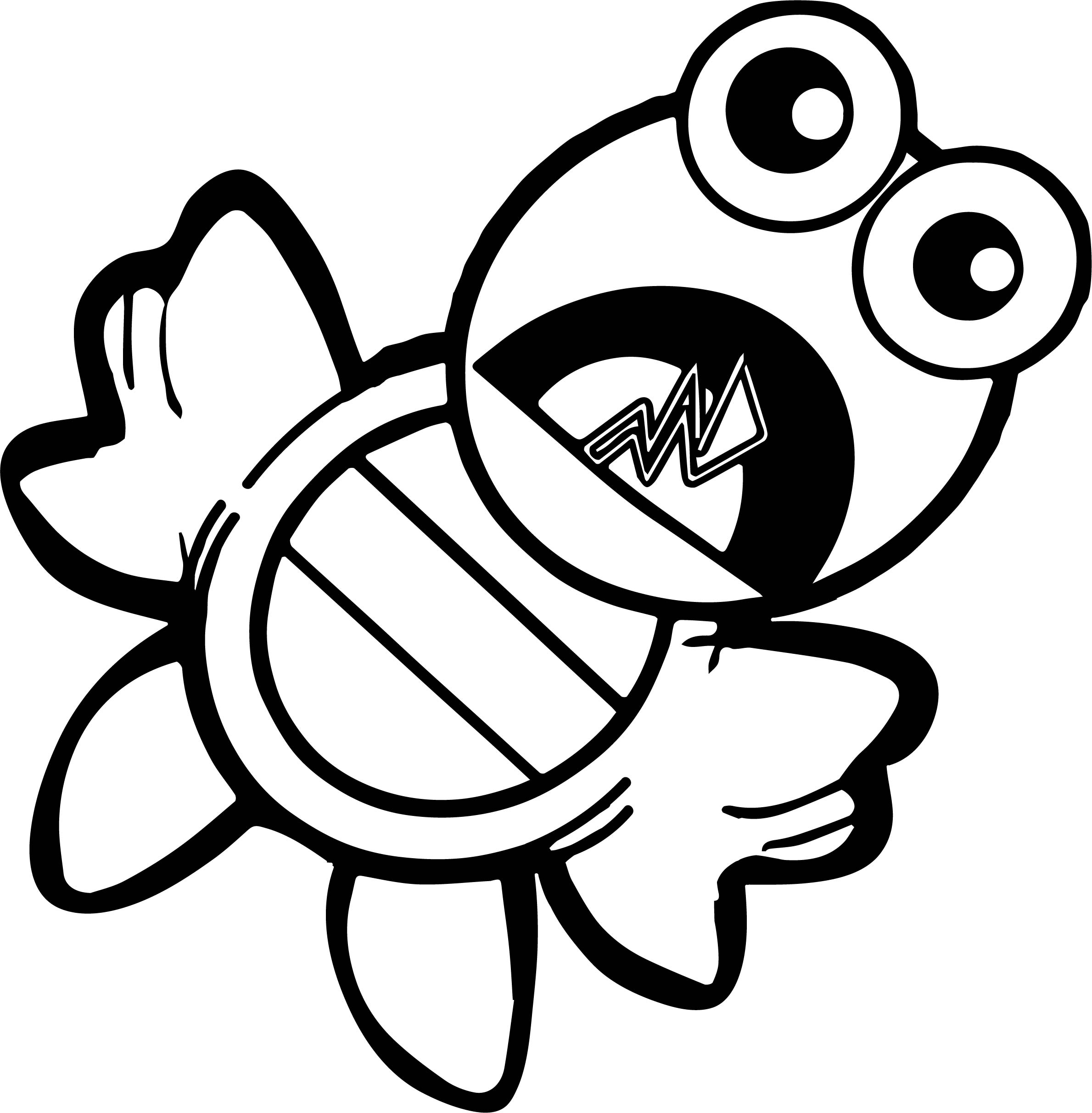 Tortoise Turtle Scream Coloring Page