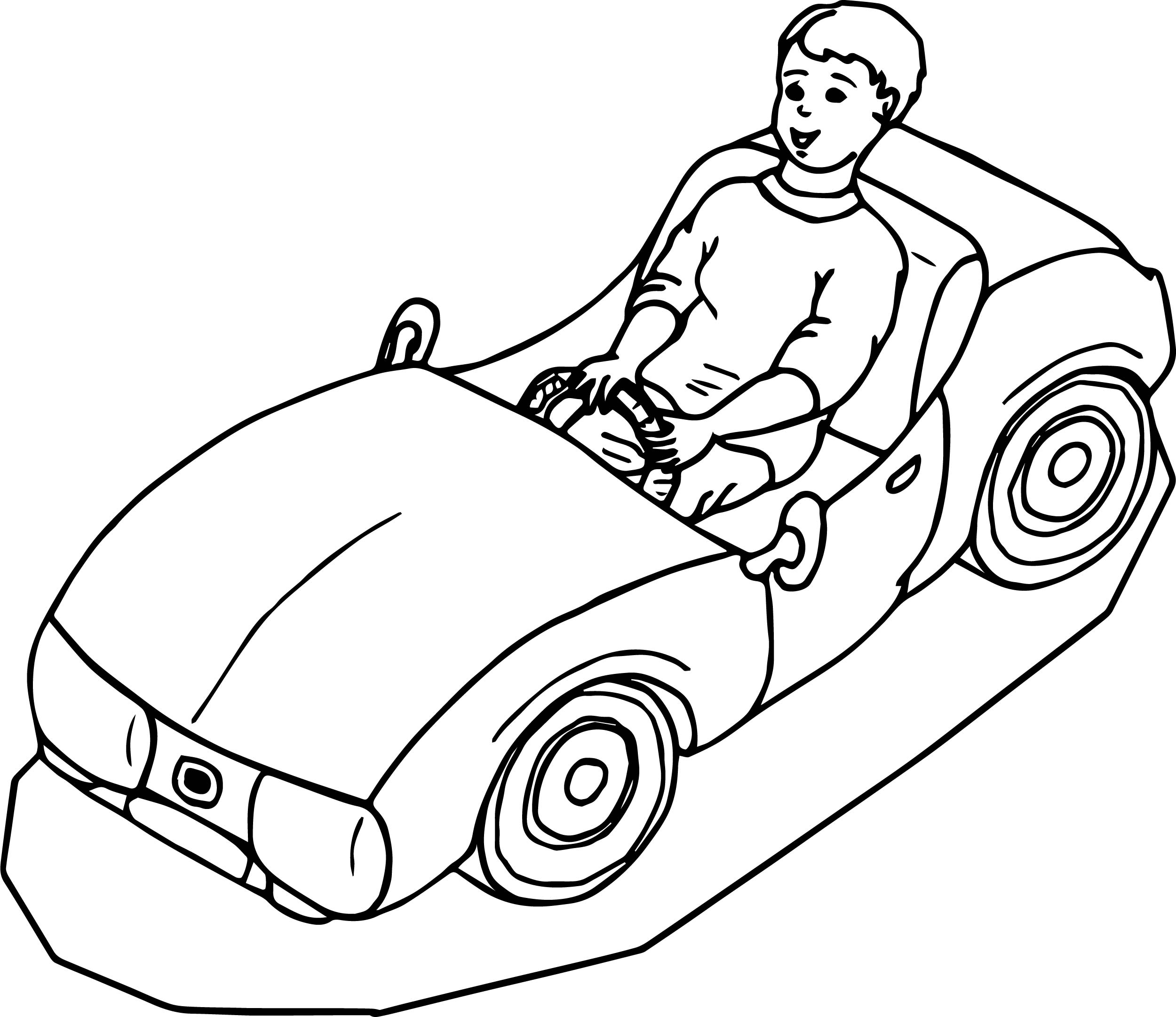 toy car drive child coloring page wecoloringpage