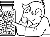 Toys Marbles Children Kid Coloring Page