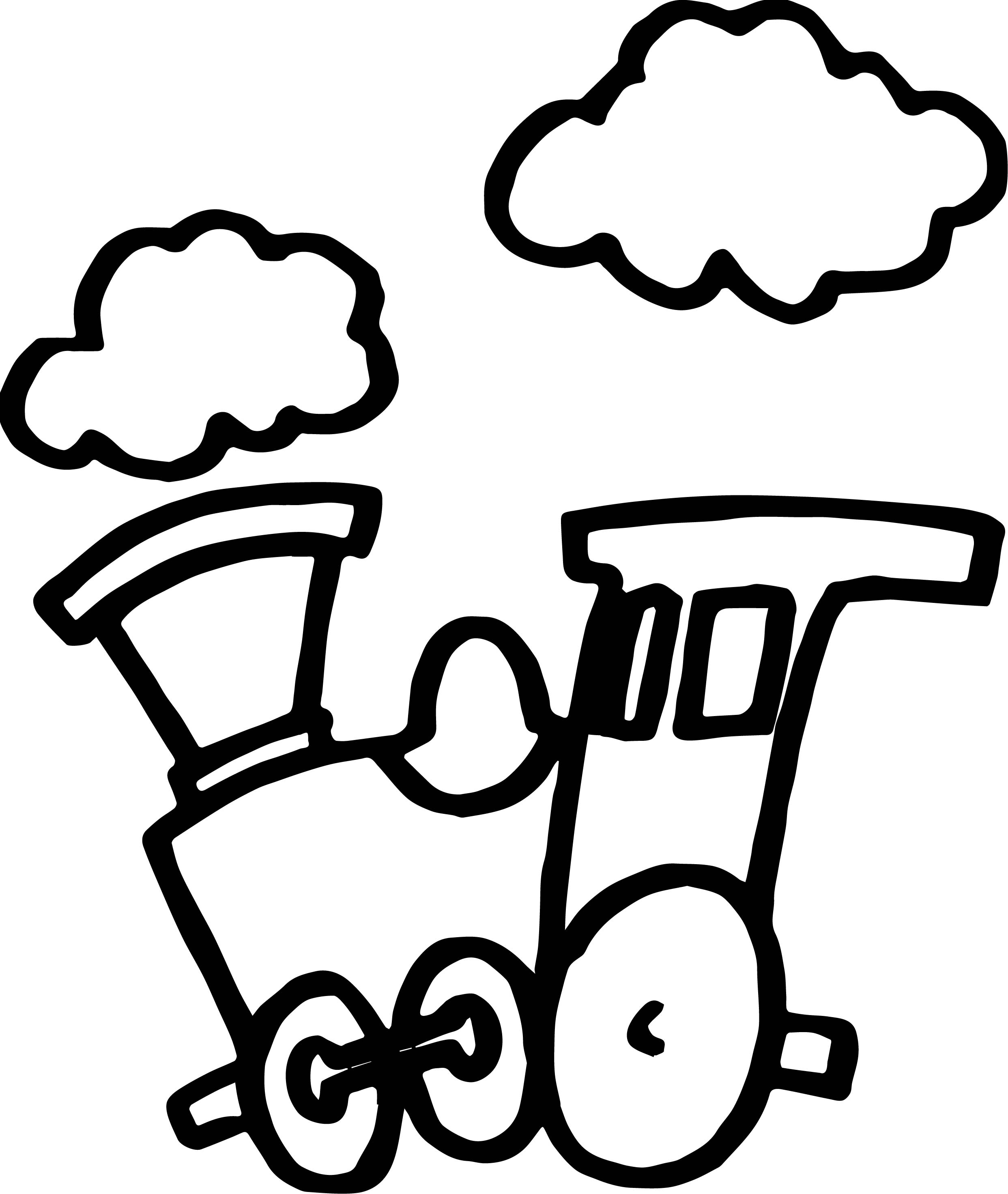 Train Cloud Coloring Page Wecoloringpage
