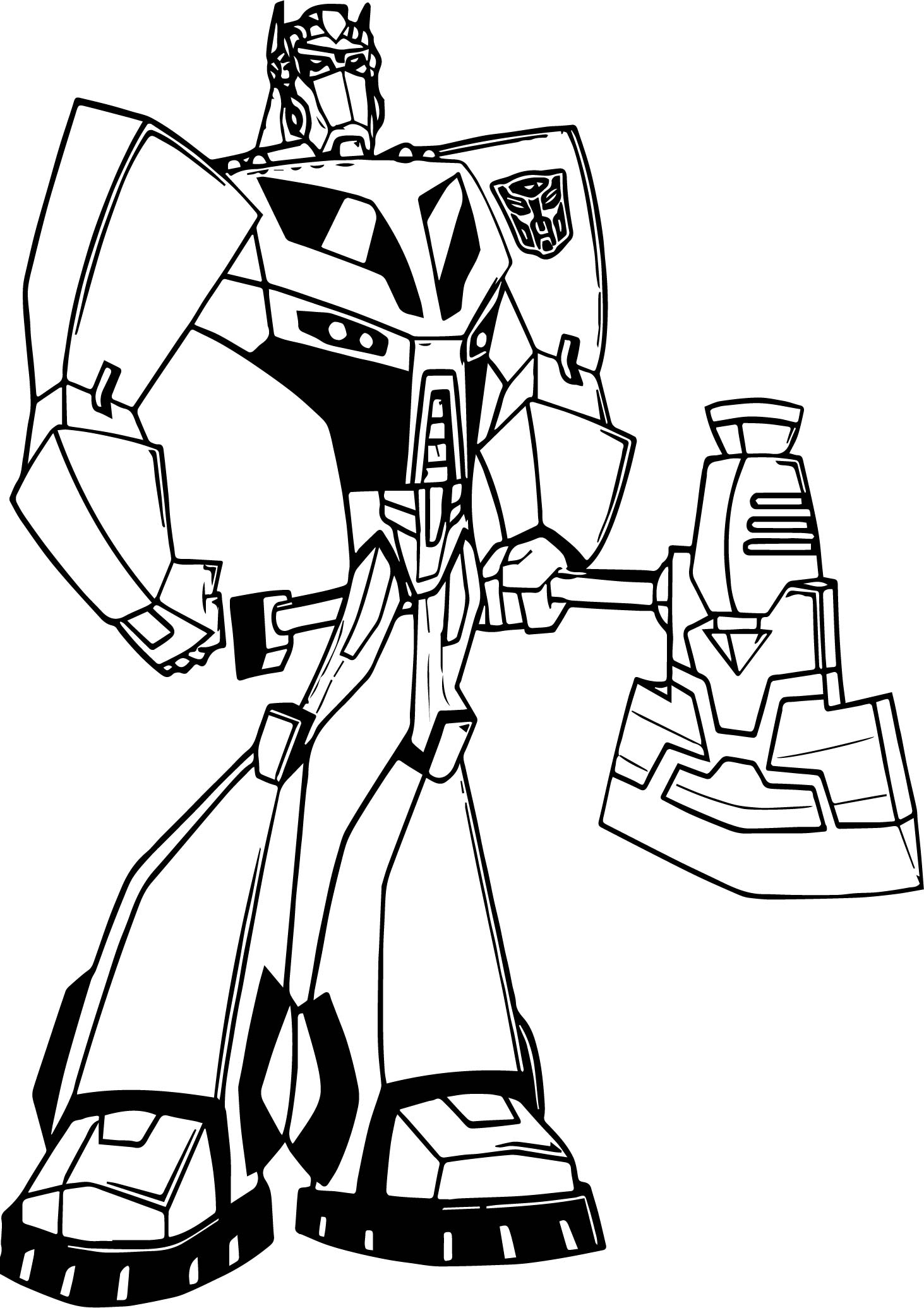 Transformers blade coloring page for Transformers animated coloring pages