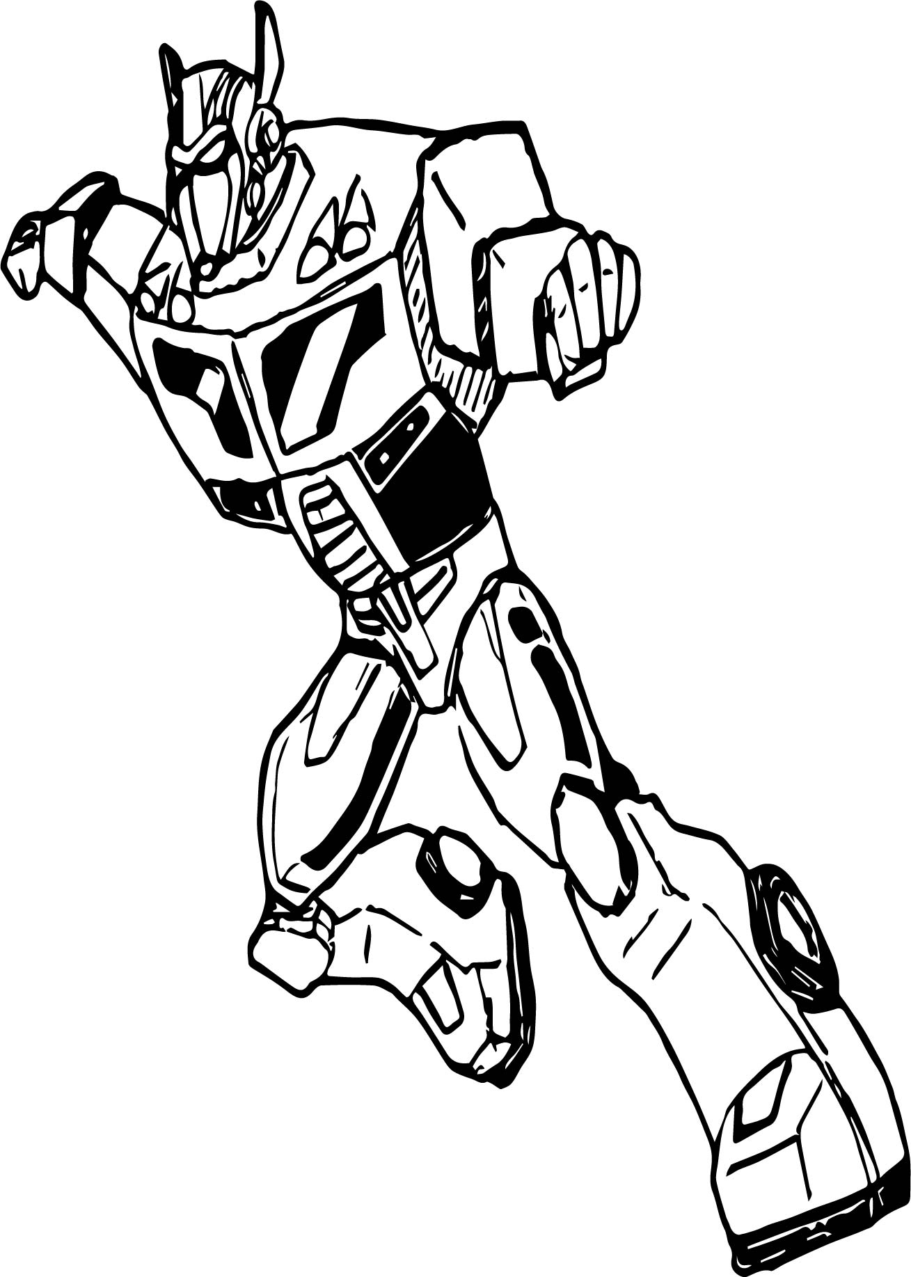 Transformers Go Coloring Page