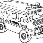 Transportation Ambulance Car Coloring Page