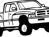 Truck Red Coloring Page