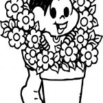 Turma Da Monica Flores Flower Coloring Page