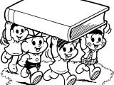Turma Da Monica Livro Biblia Carrying Book Coloring Page