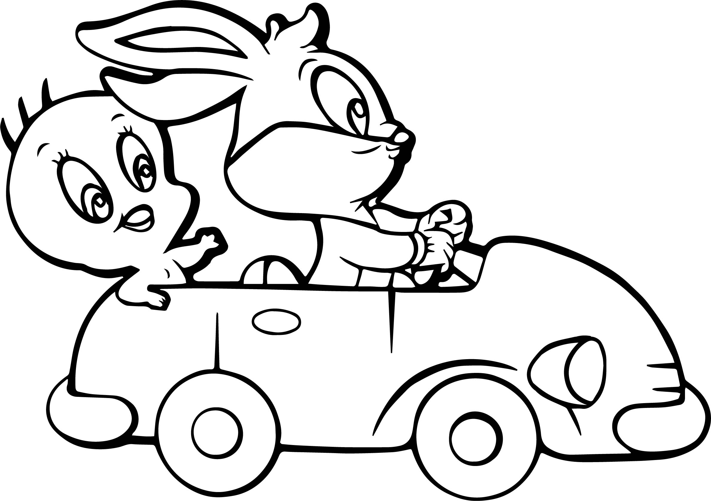 tweety and bugs bunny coloring page wecoloringpage