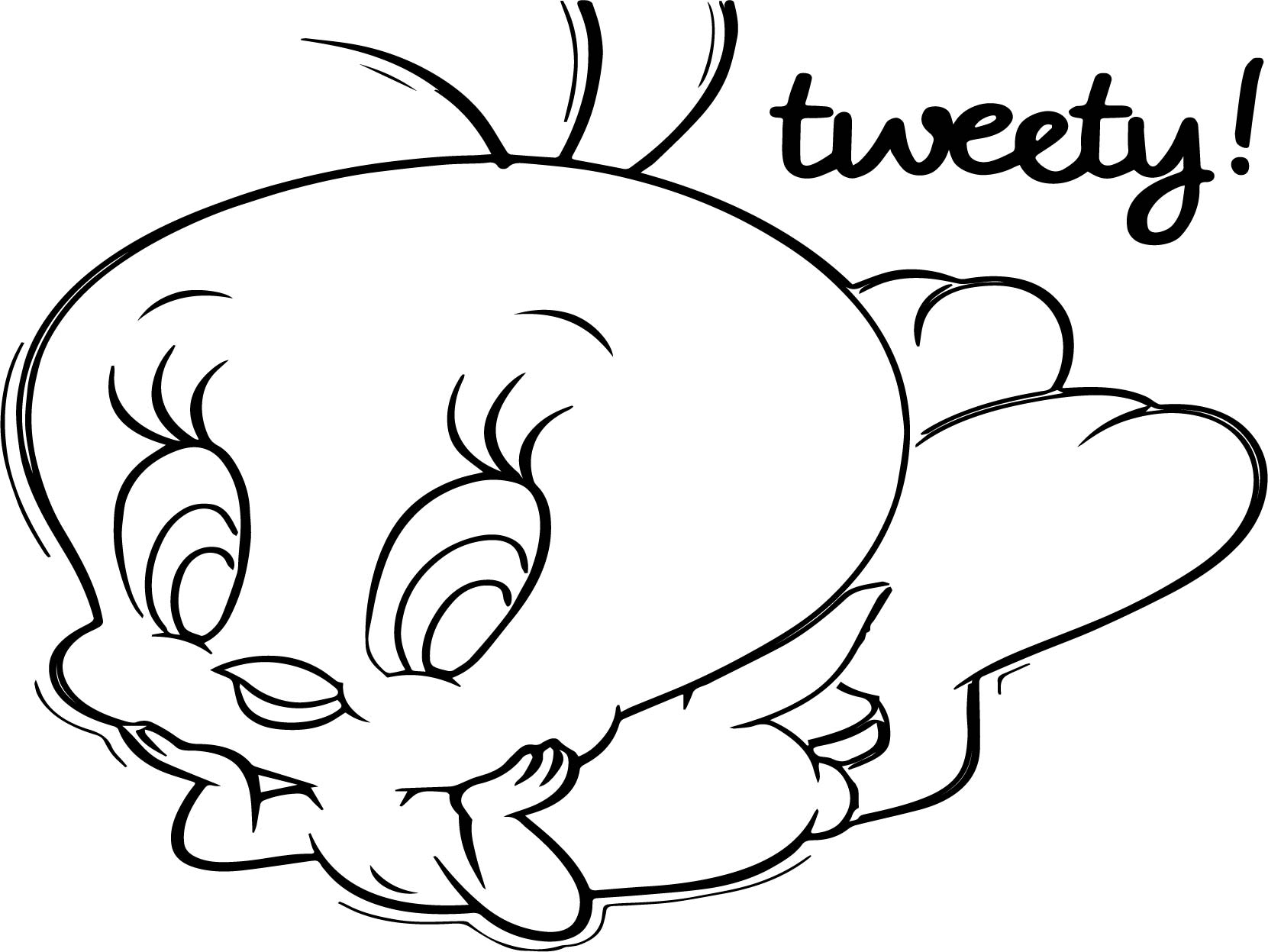 tweety bird coloring page - tweety bird coloring page