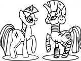 Twilight And Zecora Coloring Page