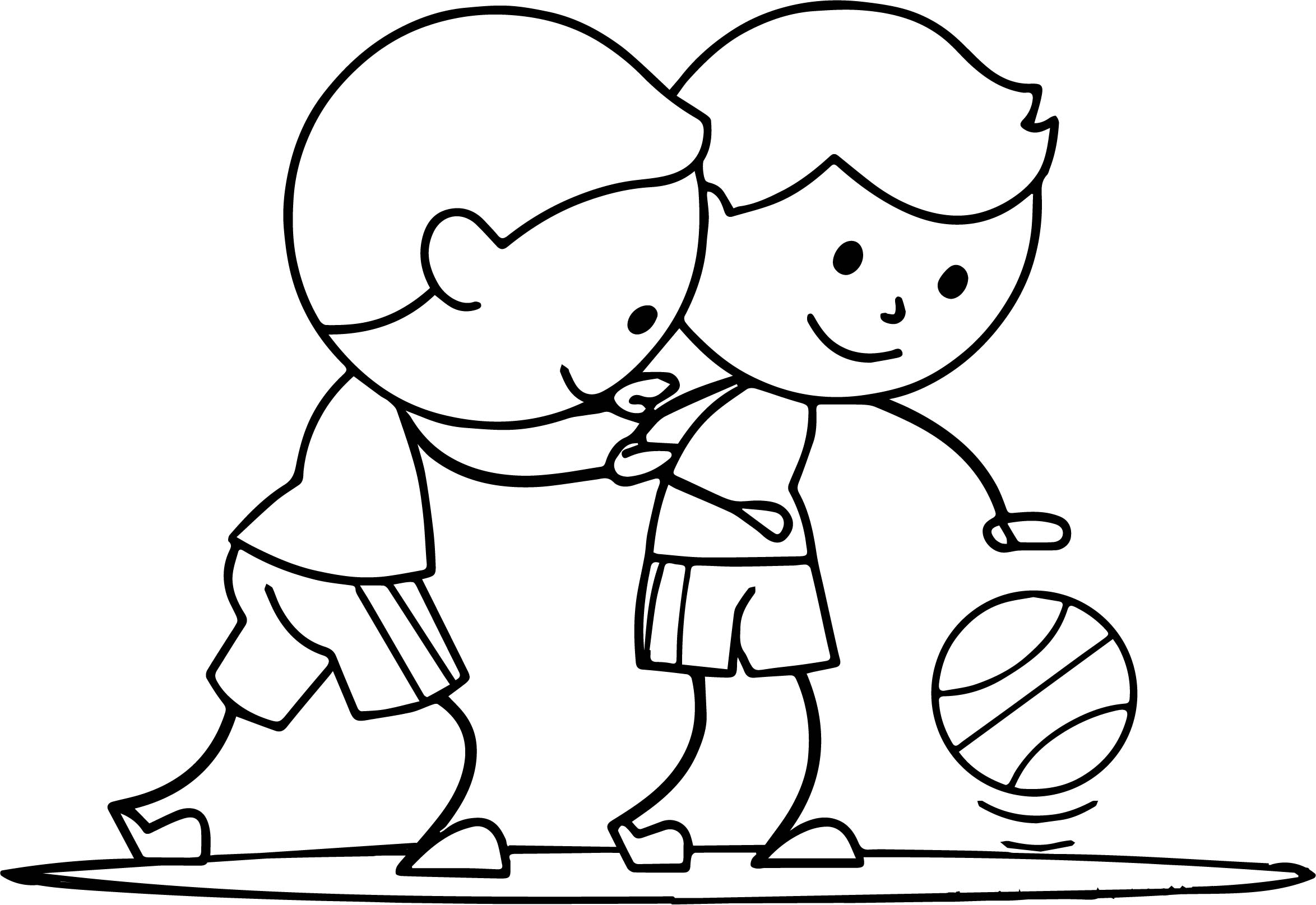 two boys playing basketball coloring page wecoloringpage