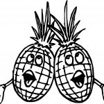 Two Pineapple Saying Song Coloring Page