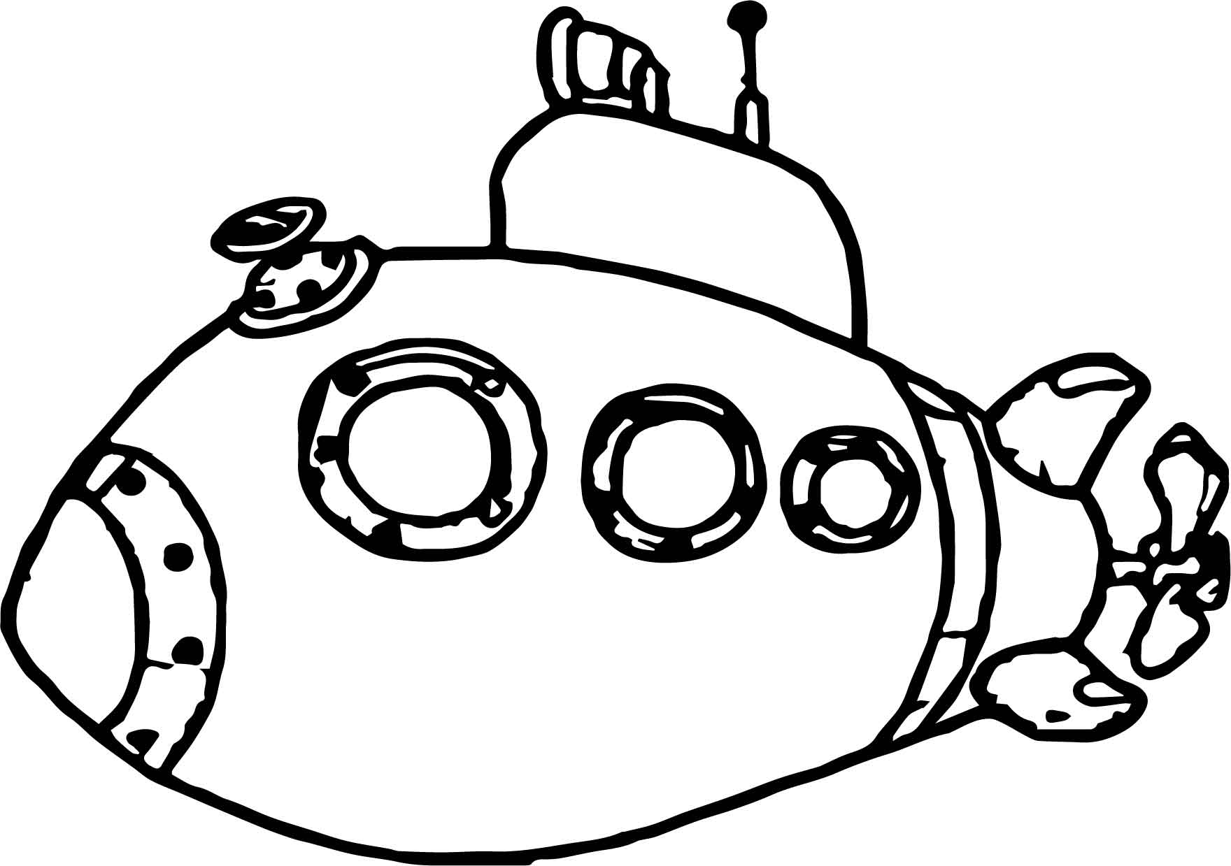 Underwater Submarine Coloring Page Wecoloringpage Submarine Coloring Pages
