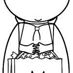 Vampire And Shopping Box Coloring Page