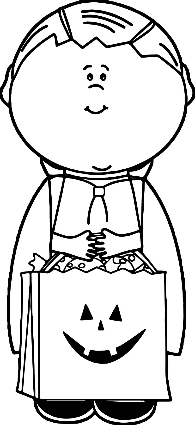 Vampire And Shopping Box Coloring Page