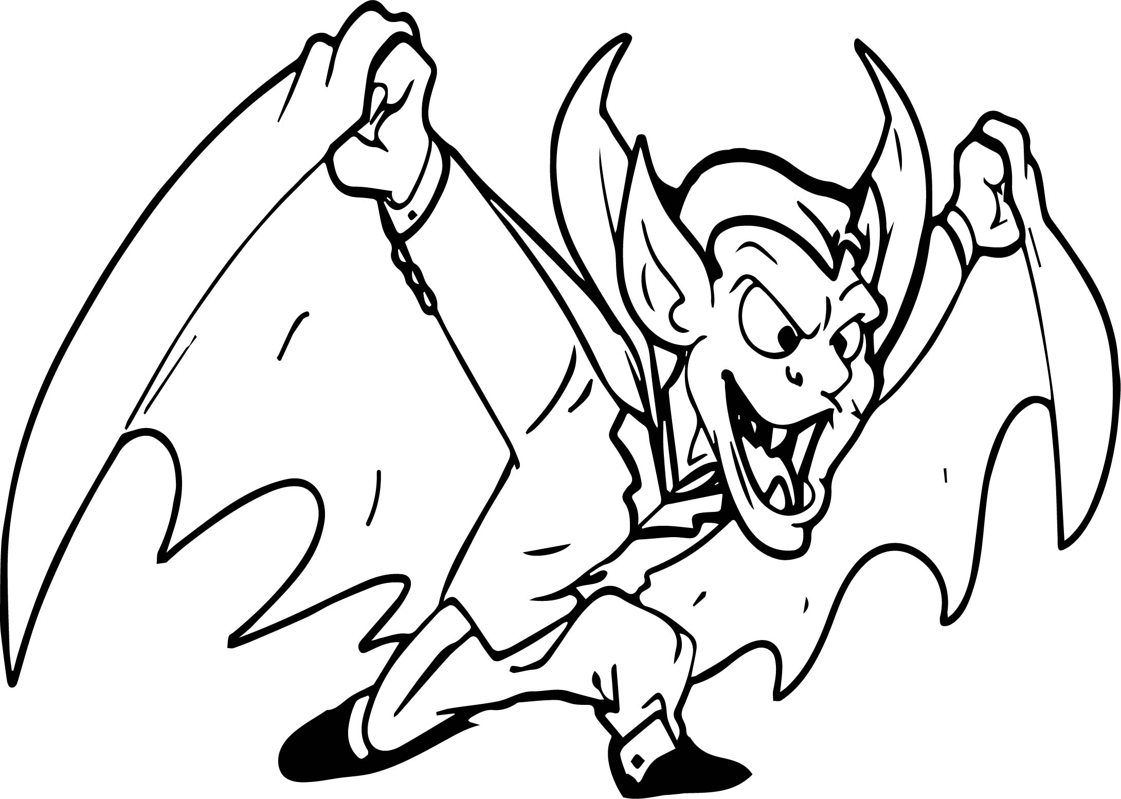 Vampire Intimidation Coloring Page