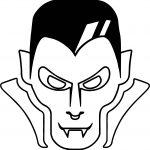 Vampire Mascot Face Coloring Page