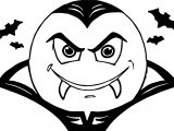 Vampire Smiley Face And Bat Coloring Page