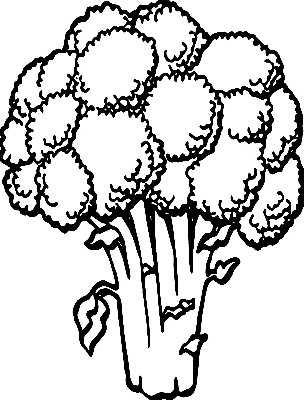 Vegetable Cauliflower Coloring Page