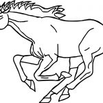 Very Fast Arabian Horse Coloring Page