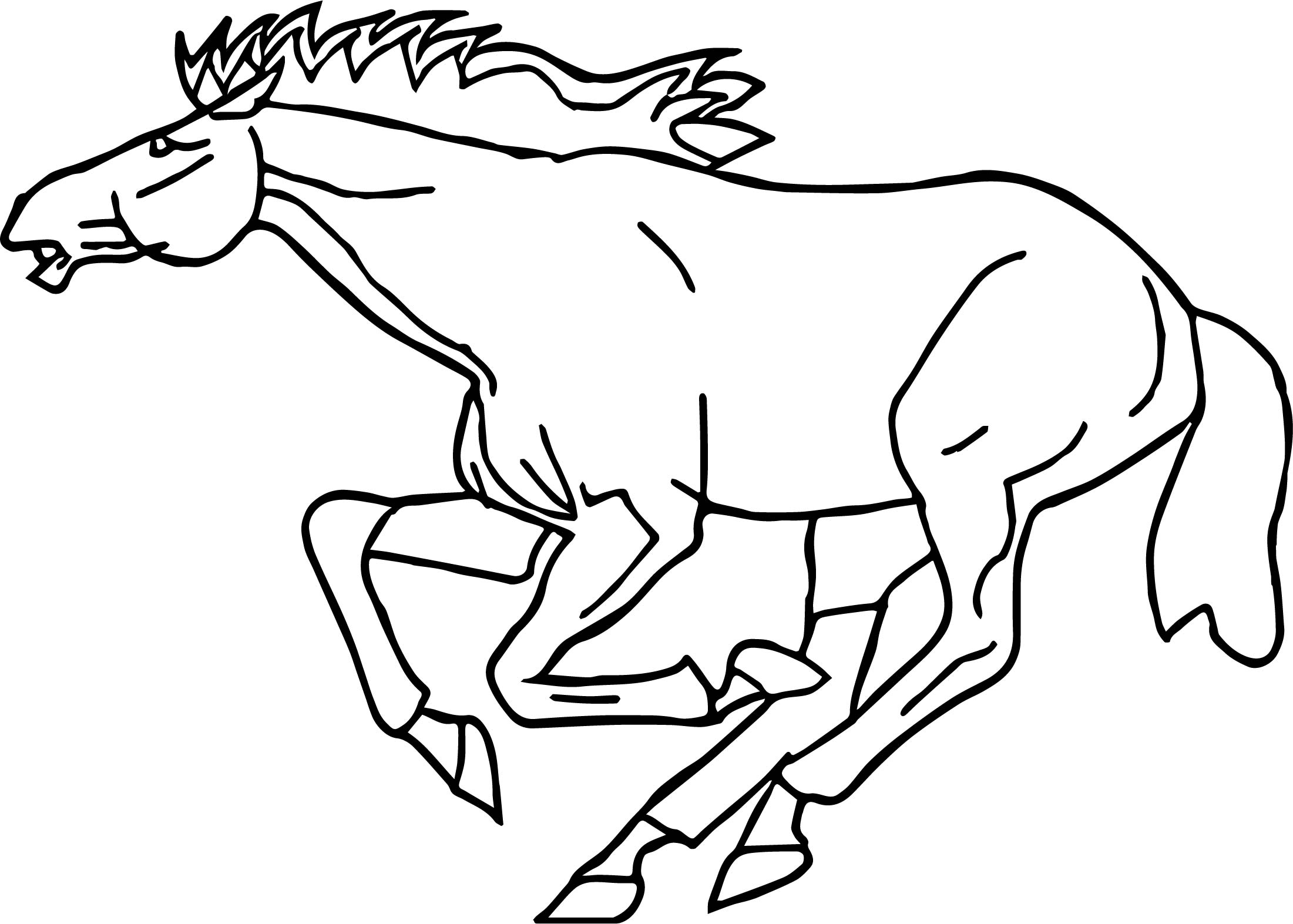 horse head coloring pages virtren com