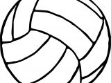 Volleyball Ball Coloring Page
