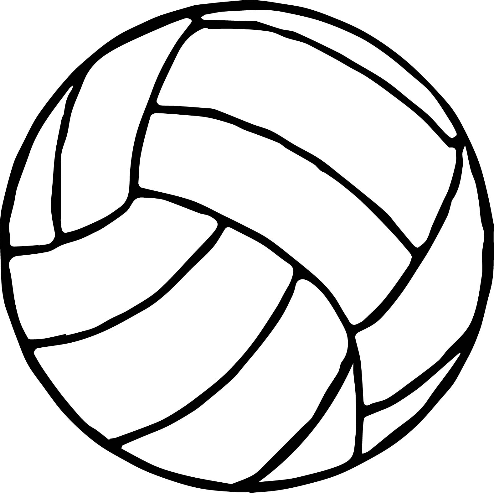 volleyball ball coloring page. Black Bedroom Furniture Sets. Home Design Ideas
