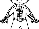 Waiting Cartoon Superhero Spiderman Kid Coloring Page