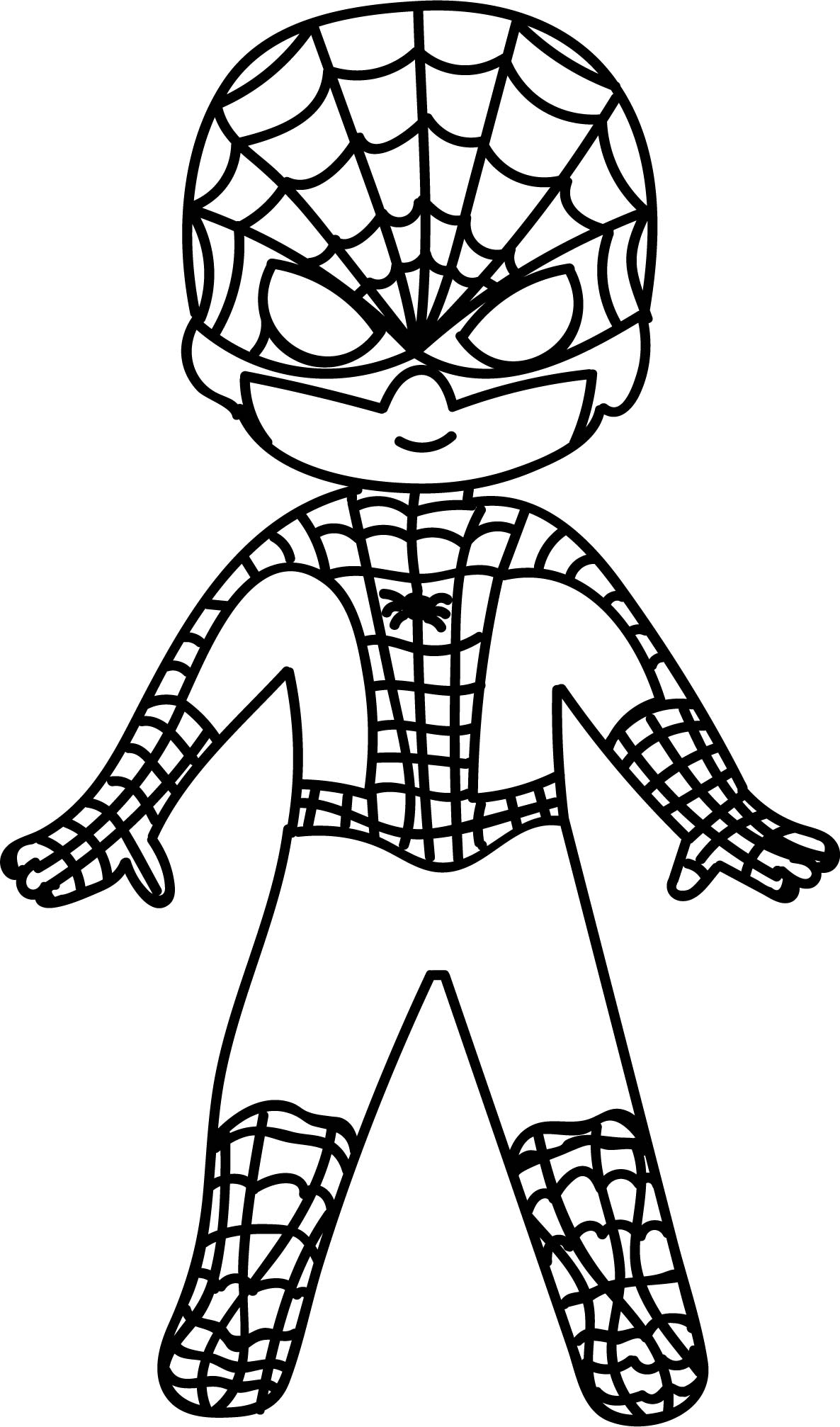 Waiting Cartoon Superhero Spiderman